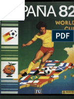 Album Cromos World Cup Panini 1982