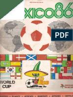 Futbol Mundial 1986 Mexico Cromos Panini