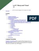 Comparison of C Sharp and Visual Basic