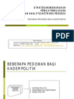 Strategi Memenangkan Pemilu Dan Pemilukada dengan Analytic Network Process