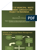 Prospect of Municipal Waste Management Throught CDM Project in Indonesia