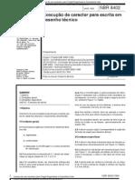 ABNT NBR 8402 Escrita Desenho Técnico Procedimento