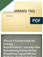 Karaniwang Tao LYRICS PPT