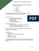 Cohen -dimensiones para un diagnóstico organizacional - encuadres