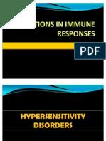 Alterations in Immune Responses
