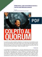 Italia Quorum l'Inicio Della Fine Del Cavallier