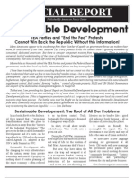 ICLEI Special Report - (UN Agenda 21) Sustainable Development - DeWeese