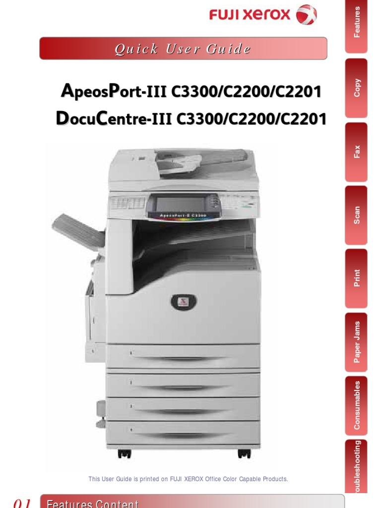 docucentre iv c3370 user manual
