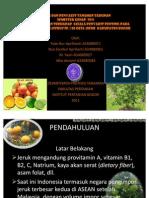 pengamatan penyakit perkebunan Jeruk. IPB.