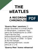 Beatles Recording Chronology