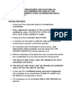 Guidelines and Procedures for Elections[1]