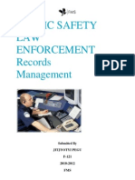 Public Safety Law Enforcement Records Management