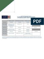 calendario exámenes  junio selectividad 11