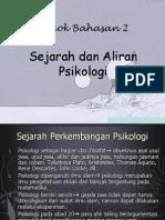 (2) Sejarah Aliran Psikologi