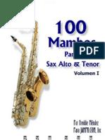 100 Mambos Sax Alto Tenor Merengue