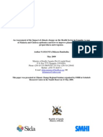 An Assessment of the Impact of Climate Change on Health Sector in Uganda