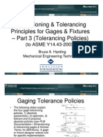 PLM Documentation Dim Tolerancing Gages Fixtures Tol Policies