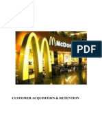 MC DONALD- Customer Aquisition & Retention