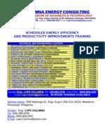 Energy Efficiency Training Schedule (June-August 2011)