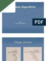 Division Algorithms