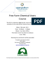 Free Farm Chemical Users Flyer