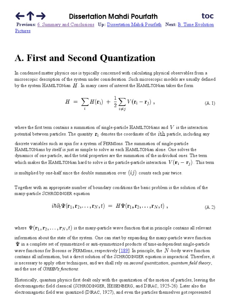 First and Second Quantization | Wave Function | Quantum