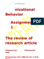 OB Assignment Article review