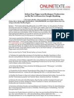 www.onlinetexte.com - Pressemeldung 2011-25 - Pimp Your SEO - Sieben Top-Tipps vom Beckumer Textservice ONLINETEXTE.com für Ihr verbessertes Google-Ranking