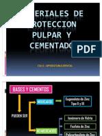 Materiales de Proteccion Pulpar y Cementado