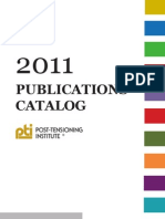 2011 Post-Tensioning Institute Publications Catalog