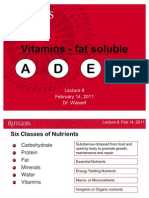 2011Lecture8_Fat Soluble Vitamins