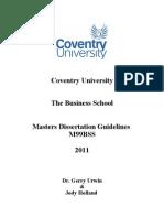 1 Dissertation Guidelines V2 2011 Cohort