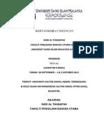 Kertas Kerja Cadangan - Universiti Sultan Zainal Abidin