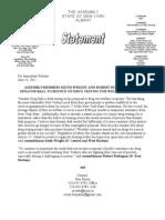 Statement on Drug Testing for Welfare Recipients Bill