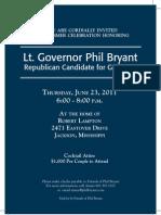 Bryant 6-23 Fundraiser