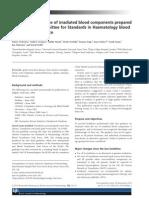 Guias Británicas para Transfusión de Componentes irradiados 2011