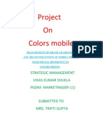 Vikas Project on Colors Mobile