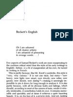 Beckett's English