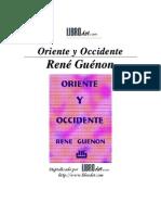 Guènon, René. Oriente y Occidente