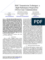 OFDM and FBMC Transmission Techniques - A bile High Performance Proposal for Broadband Power Line Communications - Belanger