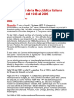I Presidenti Della Repubblica Italiana