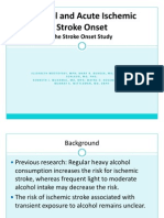 Alcohol and Acute Ischemic Stroke Onset