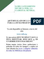 La Noticia Del Lanzamiento en Internet de La Wdl