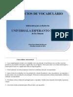 Exercicios de Vocabulario-Universala Esperanto Metodo(1-3)