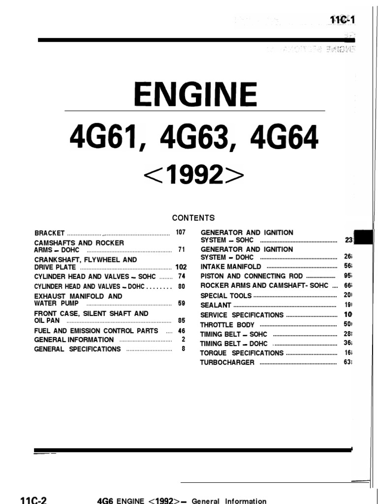 89-93 4G63 Engine Manual | Throttle | Belt (Mechanical)