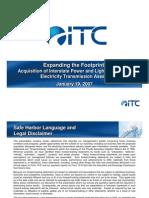 ITC Investor Relations Presentation FINAL