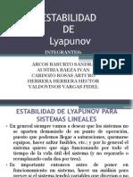 ad de Lyapunov Para Sistemas Lineales