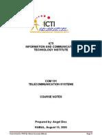 COM 101 NOTES Telecommunication System
