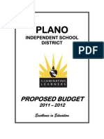 Plano ISD Proposed Budget 2011-2012