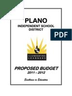 Plano ISD Proposed Budget 2011-2012